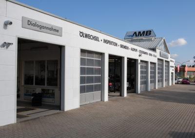 Die Werkstatt der AMB Niederlassung Pegau.